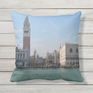 St. Mark's Square from the Grand Canal Outdoor Cushion