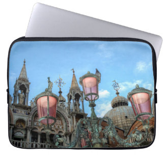 St. Marks and Lamp, Venice, Italy Laptop Sleeve
