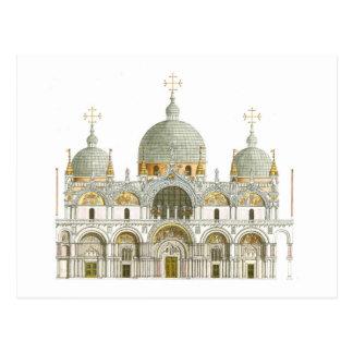 St. Mark's Basilica. Venice Italy Postcard