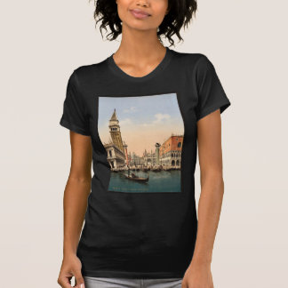 St. Mark's Place with campanile, Venice, Italy cla T Shirts