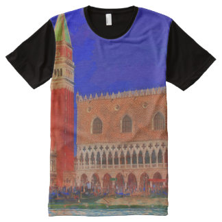 St Mark's Square Piazzetta painting All-Over Print T-Shirt