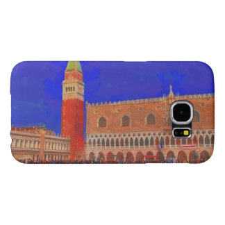 St Mark's Square Piazzetta painting Samsung Galaxy S6 Cases