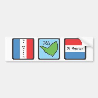 St Martin Bumper Sticker
