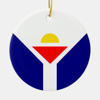 St. Martin Flag Ceramic Ornament