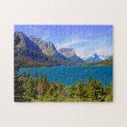 St. Mary Lake,  Glacier National Park,  Montana Jigsaw Puzzle