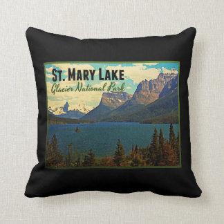 St. Mary Lake Glacier NP Cushion