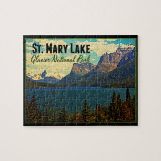St. Mary Lake Glacier NP Jigsaw Puzzle