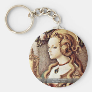 St. Mary Magdalene By Crivelli Carlo Basic Round Button Key Ring