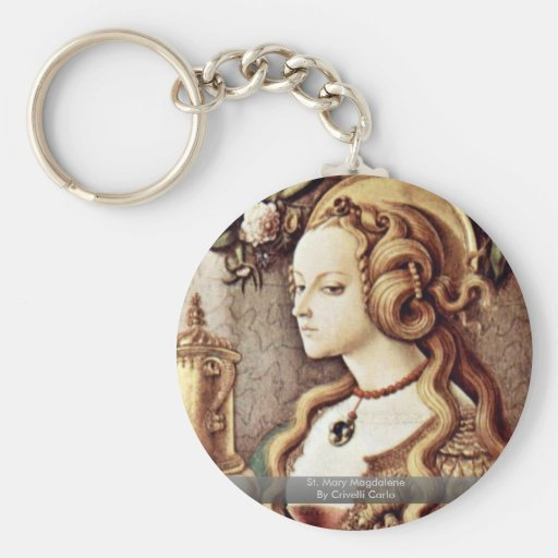 St. Mary Magdalene By Crivelli Carlo Keychain