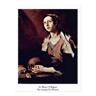 St. Mary Of Egypt By Jusepe De Ribera Postcard
