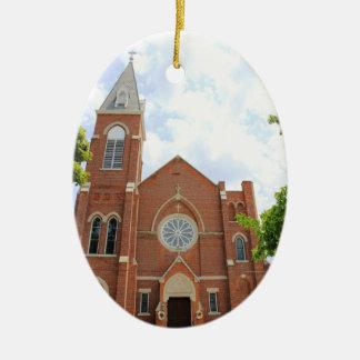 St. Mary'c Catholic Church, Greensburg, IN Ceramic Oval Decoration