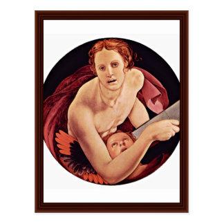St. Matthew By Bronzino Angelo Postcard