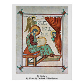 St. Matthew By Master Of The Book Of Lindisfarne Poster