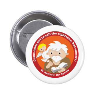 St Matthew the Apostle Pinback Buttons