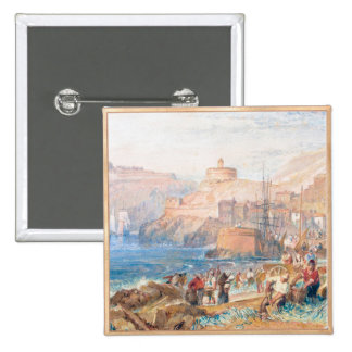 St Mawes Cornwall Joseph Mallord William Turner Button