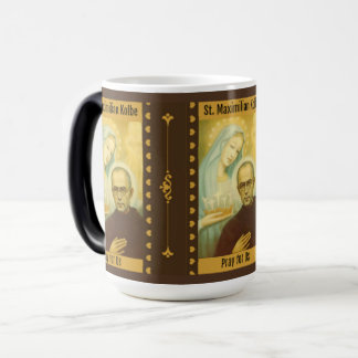 St. Maximilian Kolbe with Virgin Mary & Crown Magic Mug