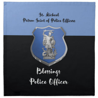 St. Michael Blessings to New Police Officer Napkin