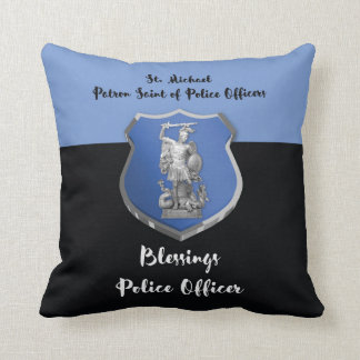 St. Michael Blessings to New Police Officer Throw Pillow