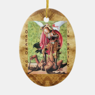 ST. MICHAEL ,DRAGON AND JUSTICE Prayer Christmas Tree Ornaments