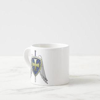 St Michael - Dragon Scale Shield Espresso Mug