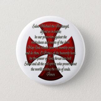 St Michael - Iron Cross 6 Cm Round Badge