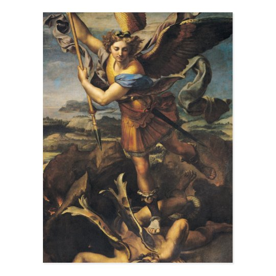 St. Michael Overwhelming the Demon, 1518 Postcard