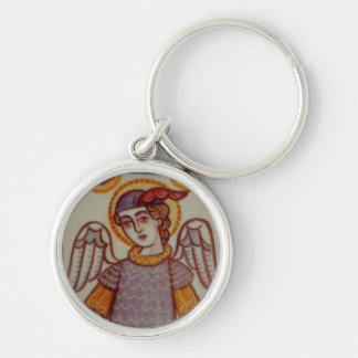 St Michael Silver-Colored Round Key Ring