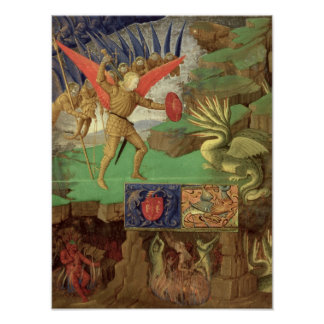 St. Michael Slaying the Dragon Poster