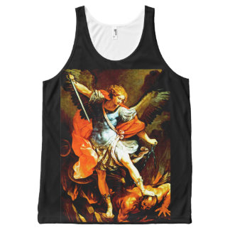 St Michael the Archangel All-Over Print Singlet
