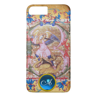 St. Michael the Archangel Monogram Antique Floral iPhone 8 Plus/7 Plus Case