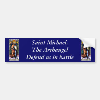 St. Michael The Archangel Stained Glass Window Bumper Sticker