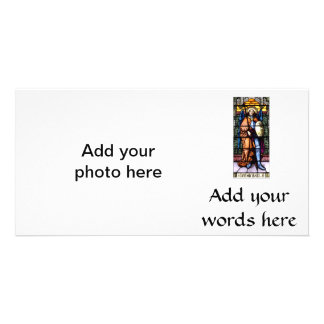 St. Michael The Archangel Stained Glass Window Photo Card