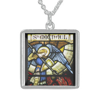ST MICHAEL THE ARCHANGEL STERLING SILVER NECKLACE
