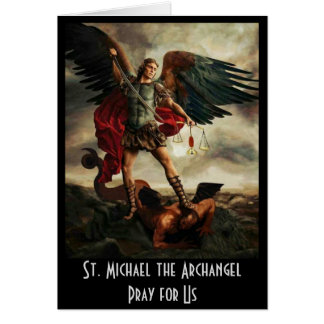 St. Michael the Archangel Sword Shield Card