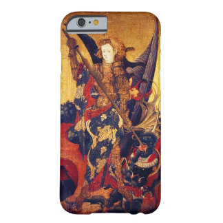 St. Michael Vanquishing Devil as Medieval Knight Barely There iPhone 6 Case
