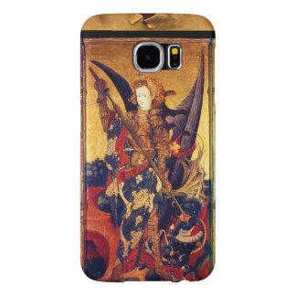 St. Michael Vanquishing Devil as Medieval Knight Samsung Galaxy S6 Cases