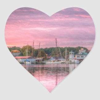 St. Michaels Harbor Heart Sticker