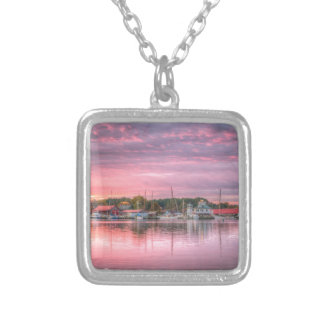 St. Michaels Harbor Silver Plated Necklace