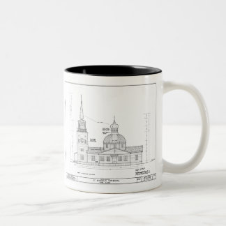 St. Michael's - South Elevation Two-Tone Coffee Mug