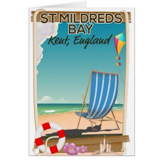 St Mildreds Bay Kent England travel poster Card