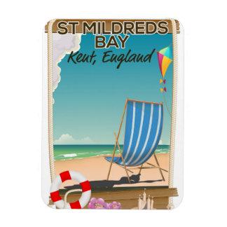 St Mildreds Bay Kent England travel poster Magnet