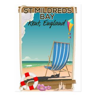 St Mildreds Bay Kent England travel poster Postcard