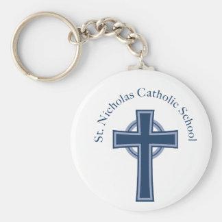 St. Nicholas Catholic School Basic Round Button Key Ring