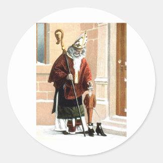 St. Nicholas Classic Round Sticker