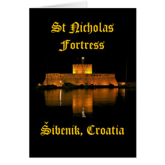 St Nicholas Fortress - Šibenik, Croatia Greeting Card