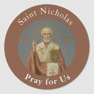 St. Nicholas of Myra Bishop Classic Round Sticker