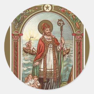 St. Nicholas of Myra Bishop Classic Round Sticker
