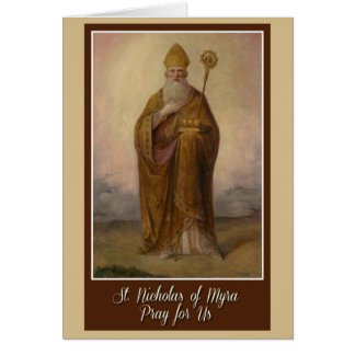 St. Nicholas of Myra Bishop Priest Christmas Card