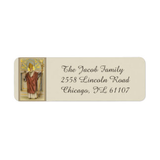 St. Nicholas of Myra Bishop Return Address Label