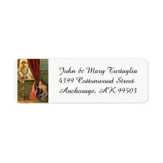 St. Nicholas of Myra with Children Return Address Label